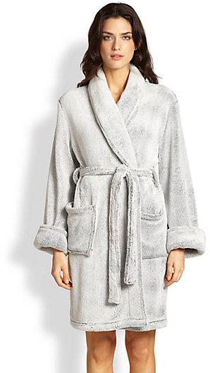 Josie Solid Plush Short Robe