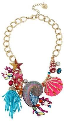 Betsey Johnson Seashell Bib Necklace