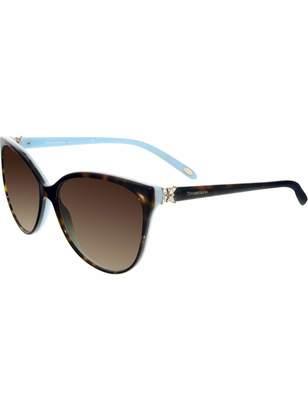 Tiffany & Co. Women's Gradient TF4089B-81343B-58 Tortoiseshell Butterfly Sunglasses