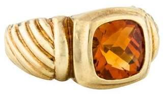 David Yurman 14K Citrine Noblesse Ring