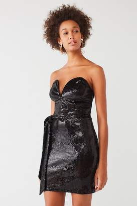 Oh My Love Aubervilliers Strapless Sequin Dress