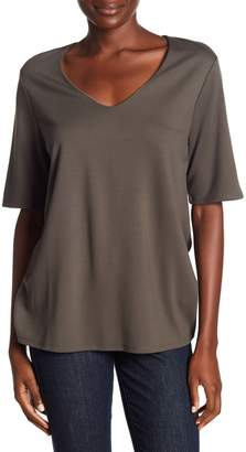 Gibson Clean Ponte V-Neck Tee