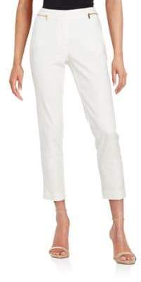 Calvin Klein Cropped Zip-Accent Pants