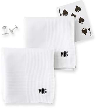 Mark And Graham Luxe Hand Rolled Handkerchief, Set of 2