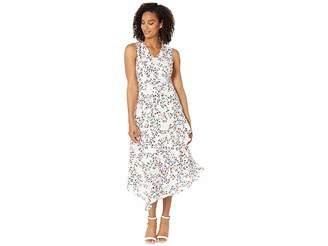 ba3a0b55 Calvin Klein V-Neck Dress w/ Belt Ruffle