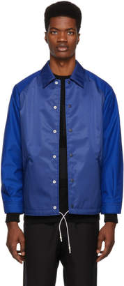 Comme des Garcons Homme Homme Blue Laminated Water Jacket