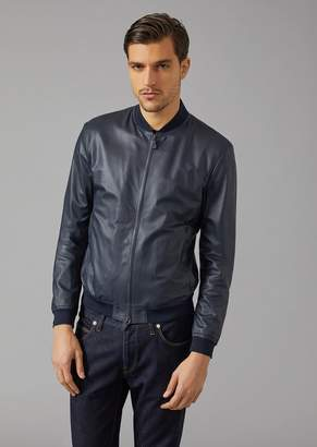 Giorgio Armani Matt Leather Jacket