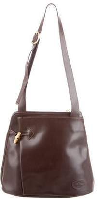 Longchamp Grain Leather Shoulder Bag