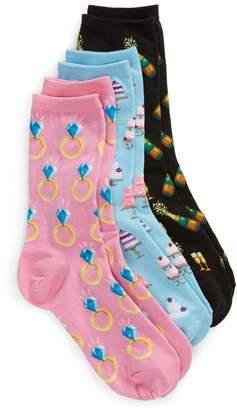 Hot Sox 3-Pack Bridal Socks