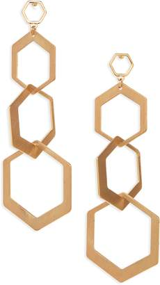 BP Hexagon Drop Earrings