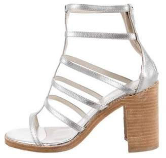Jeffrey Campbell Metallic Cage Sandals