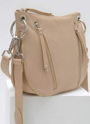 Mint Velvet Claire Camel Leather Zip Bag