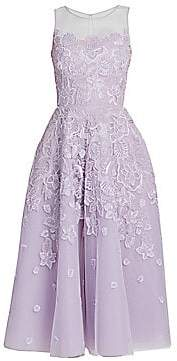 ZUHAIR MURAD Women's Maui Embroidered Floral Fit-& Flare Dress