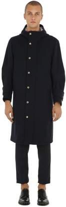 Thom Browne Hooded Melton Wool Coat