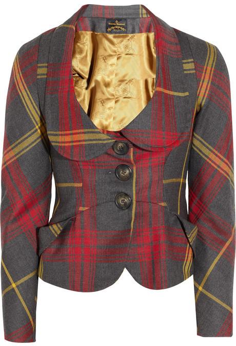 Vivienne Westwood Anglomania Scale tartan wool jacket