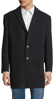 Calvin Klein X-Slim Fit Wool-Blend Coat