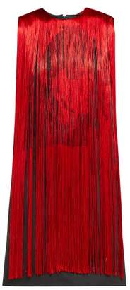 Calvin Klein X Andy Warhol Stephen Sprouse Fringed Dress - Womens - Red Multi