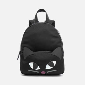 Lulu Guinness Women's Medium Kooky Cat Backpack - Black