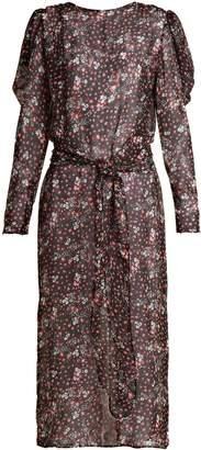 ATTICO Livia rose-print silk-chiffon dress