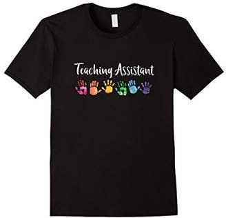 Rainbow Handprint Shirt For Teacher Assistants