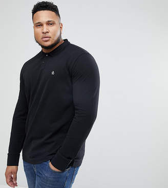 Original Penguin Big & Tall Pique Polo Long Sleeve in Black