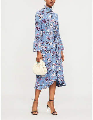 Erdem Siren floral-print silk midi dress