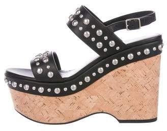 Saint Laurent Studded Wedge Sandals