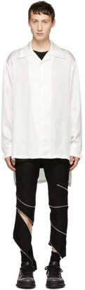 D.gnak By Kang.d White High-Low Pyjama Silk Shirt
