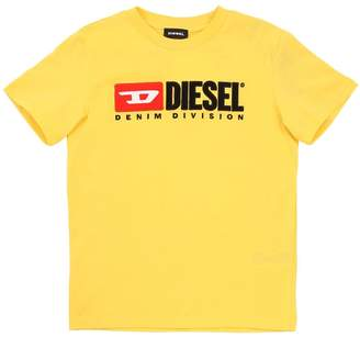 Diesel Flocked Logo Cotton Jersey T-Shirt