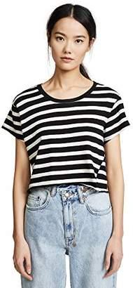 Pam & Gela Women's Stripe Crop Tee