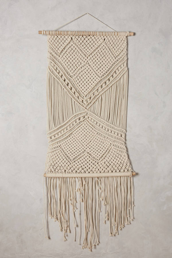 Anthropologie Anthropologie Macrame Woven Wall Art