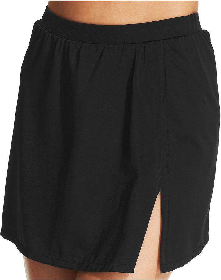 INC International Concepts Solid Slit Swim Skirt