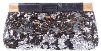 Miu Miu Sequin Frame Clutch