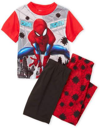 Spiderman Spider Man (Boys 4-20) 3-Piece Character Tee & Shorts Pajama Set