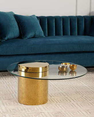 REGINA ANDREW Odette Glass Top Coffee Table