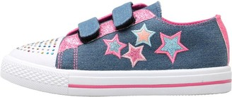 04d42dcee5d7 Board Angels Girls Denim Velcro Pumps With Applique Stars Mid Denim