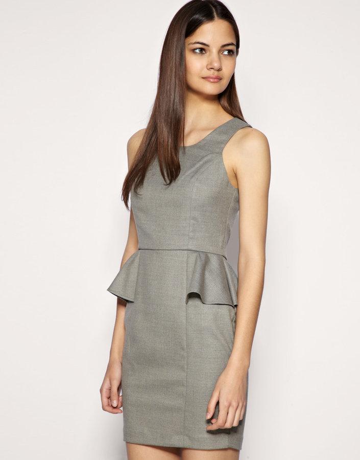 ASOS Tailored Wool Mix Peplum Mini Dress