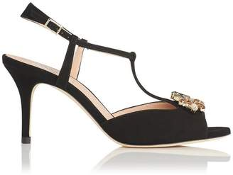 LK Bennett Yvette Black Suede Formal Sandals
