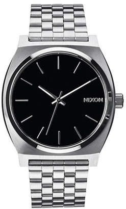 Nixon Analog Time Teller Silvertone Bracelet Watch