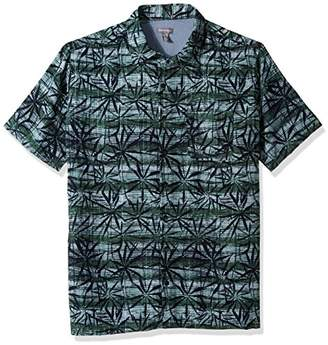 Van Heusen Men's Size Big and Tall Oasis Printed Short Sleeve Shirt
