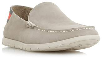 Dune Grey 'Busquets' Contrast Sole Loafers
