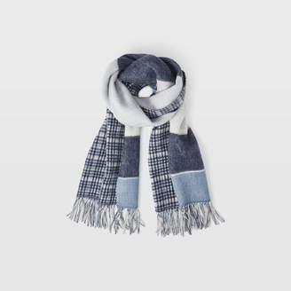 Club Monaco Thisbee Wool Check Scarf