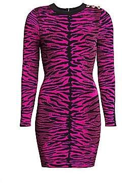 Milly Women's Knit Tiger-Print Bodycon Dress