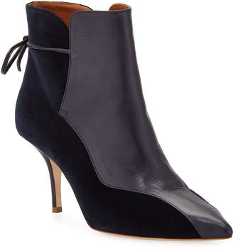 Malone Souliers Jordan Mixed Media Booties, Navy