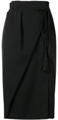 Alberta Ferretti wrap-around high-waisted skirt