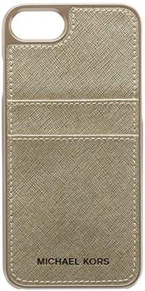 Michael Kors Metallic Electronic Leather Phone Cover with Pocket 7