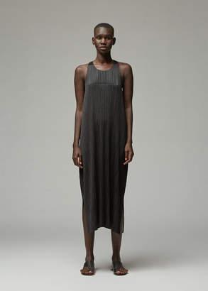 Pleats Please Issey Miyake Sleeveless Wrap Back Dress