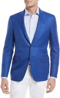 Canali Super 130s Wool Sport Coat, High Blue