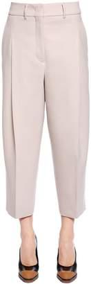 Jil Sander Cropped Virgin Wool Stretch Pants