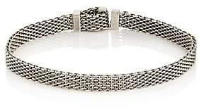 Title of Work Men's Adjustable Micro-Mesh Bracelet - Silver